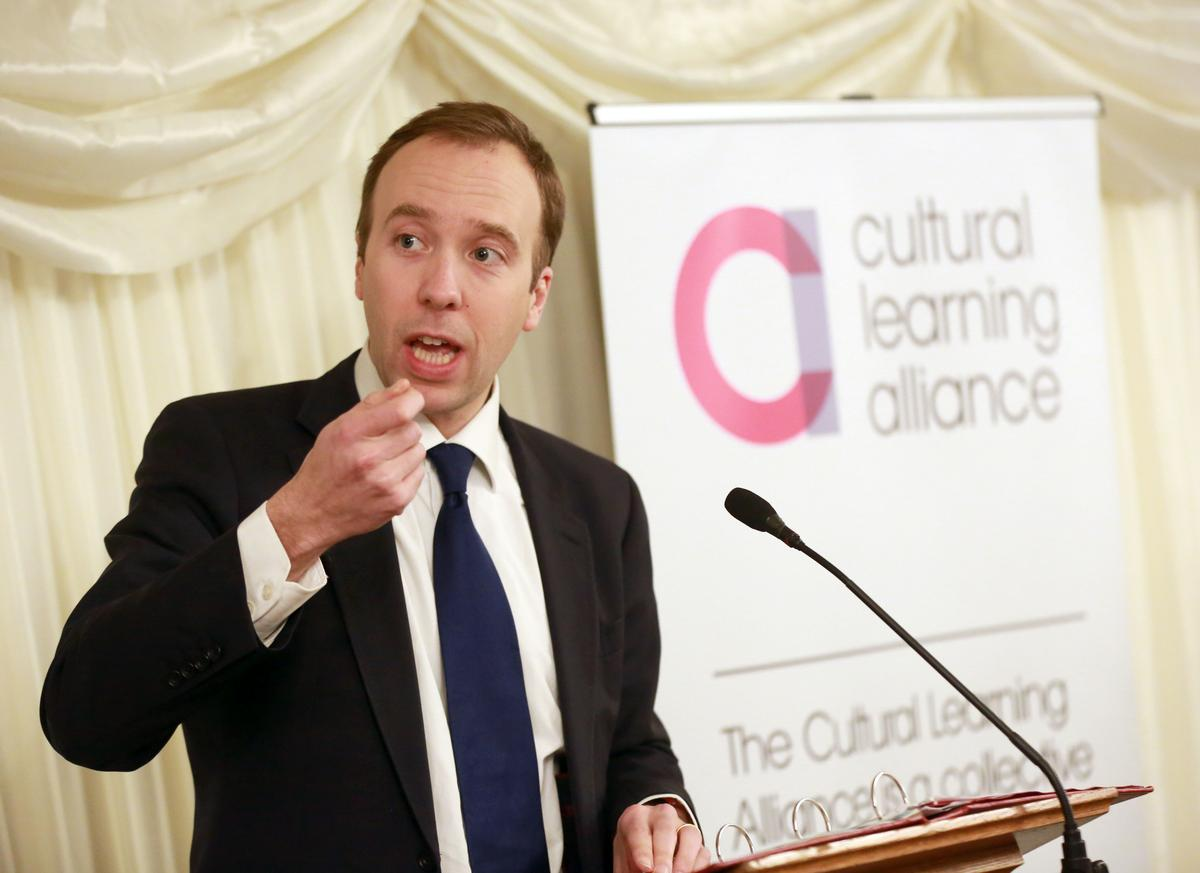 Matt Hancock was made culture secretary following Theresa's May cabinet reshuffle yesterday (8 January) / Matt Alexander/PA Archive/PA Images