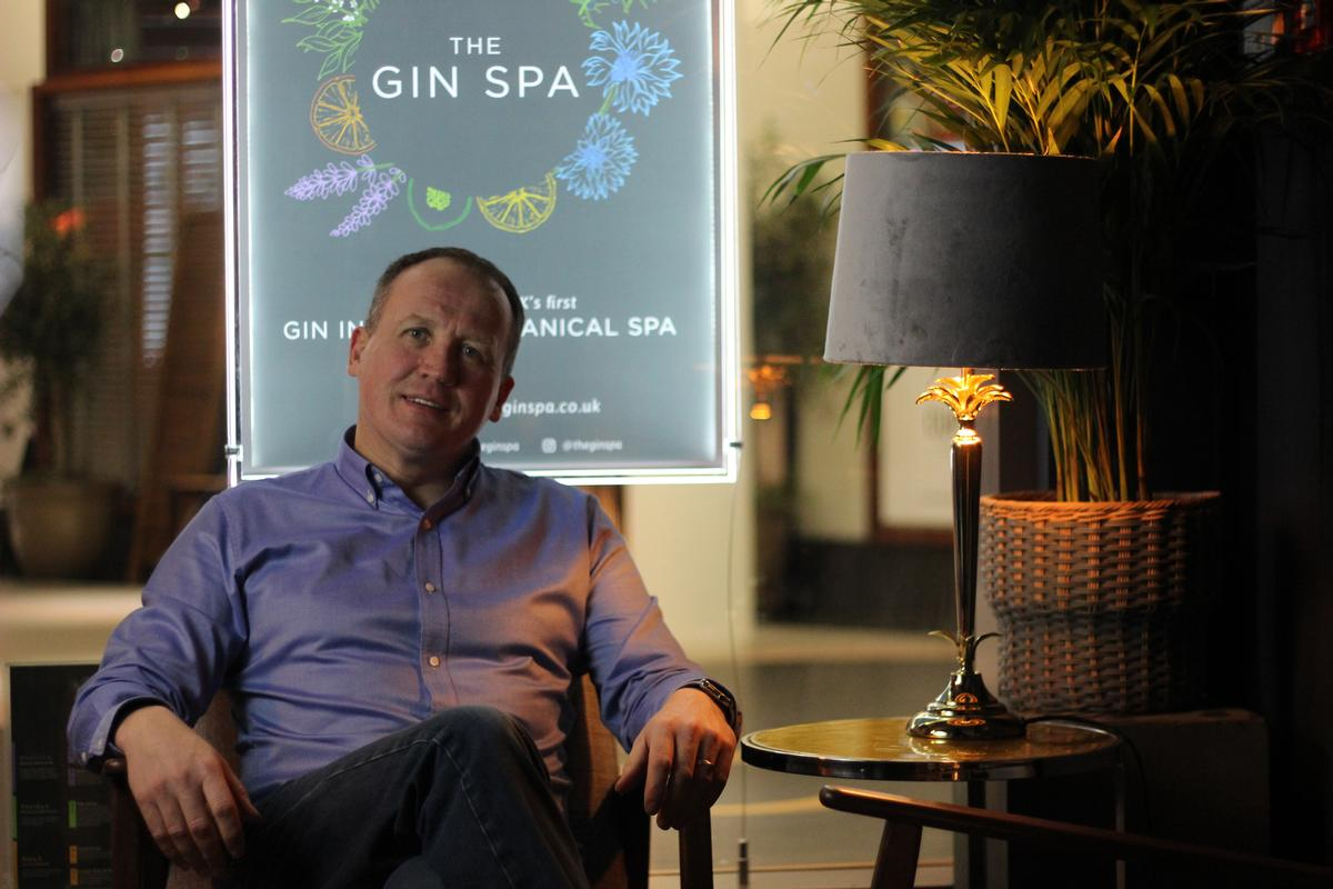 Paul Reynolds, managing director of The Gin Spa, describes his vision as 'the perfect storm of great service, exceptional treatments, product and, of course, gin"
