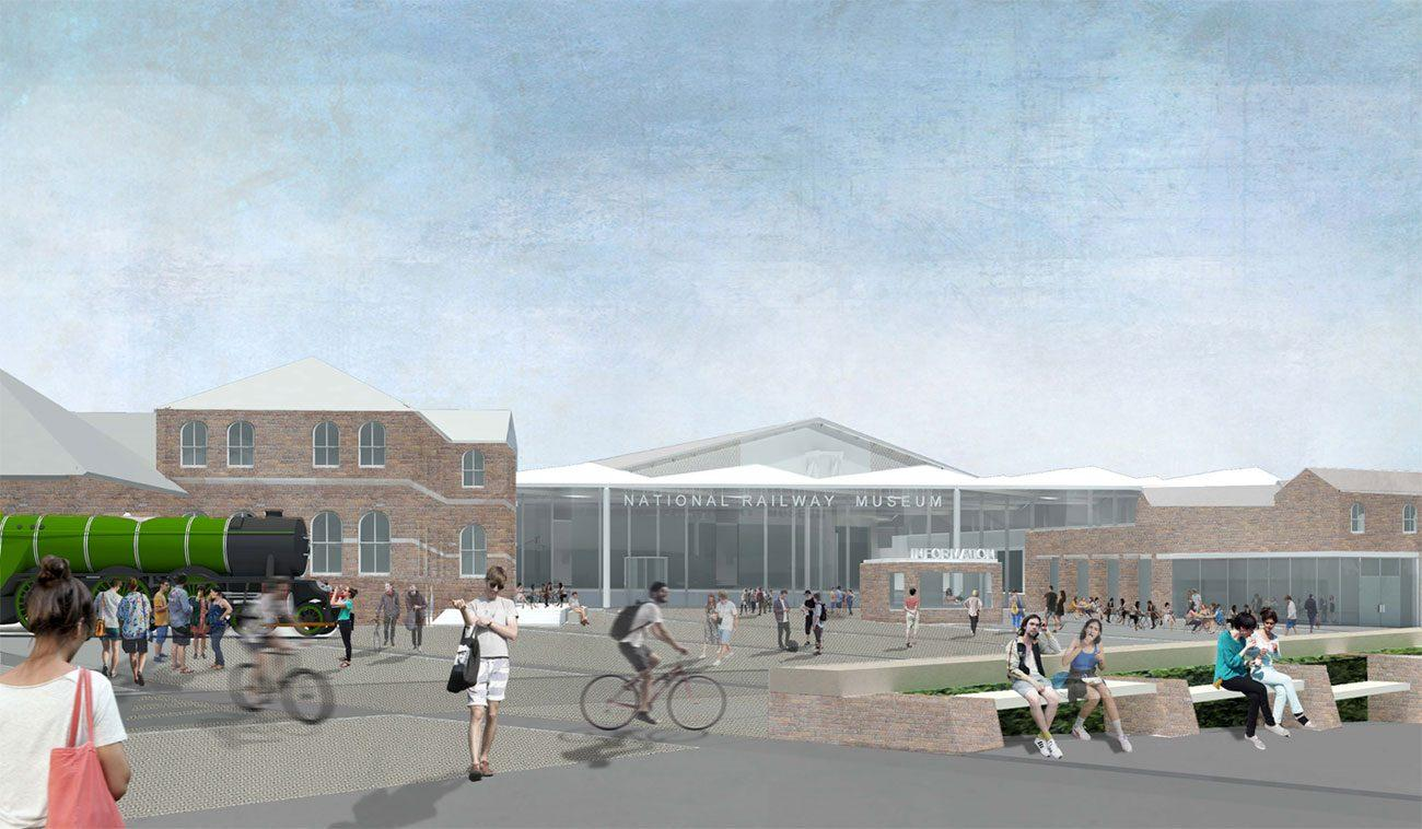 A new square will connect the museum and York Station