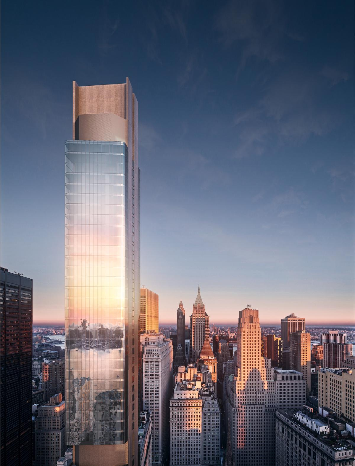 Global real estate firm Bizzi & Partners Development are overseeing the creation of the 88-storey, 912ft tall luxury condominium skyscraper, called 125 Greenwich Street / March