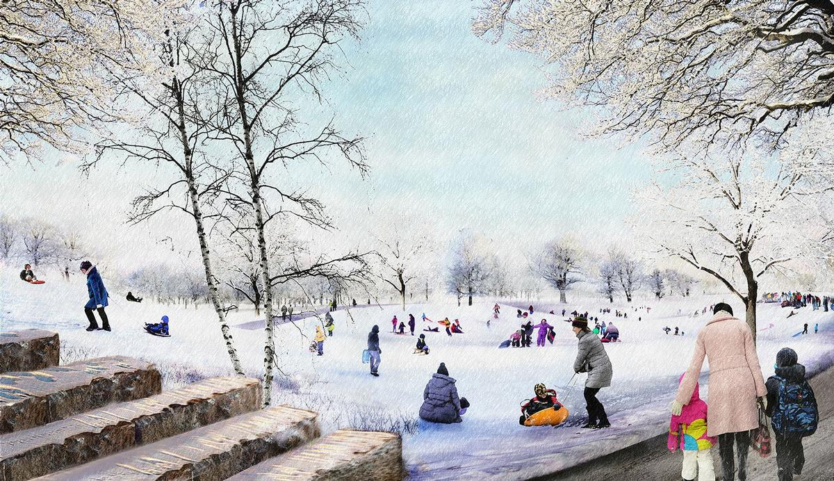 The park is envisaged as 'a campus for all seasons' / The Obama Presidential Center