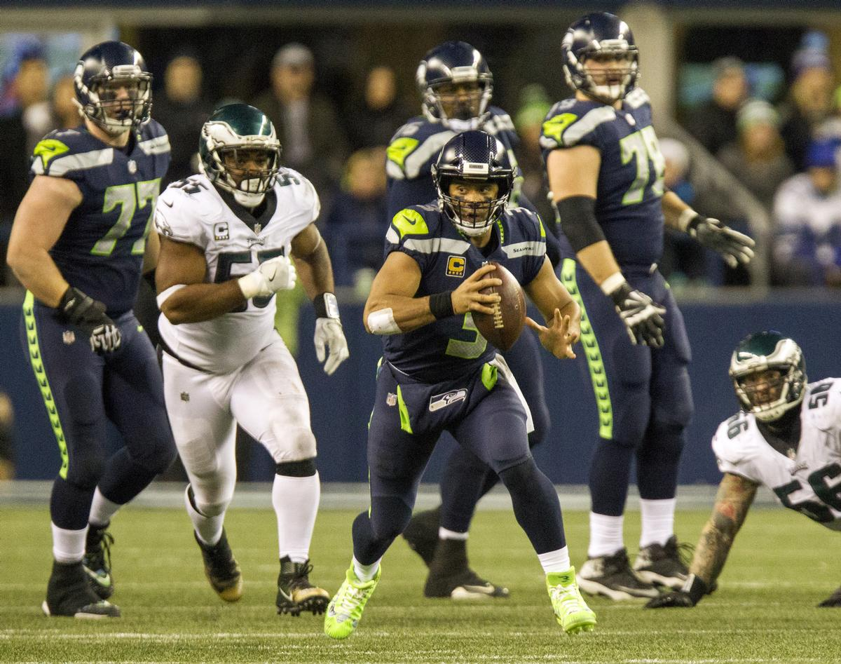 Seattle Seahawks' quarterback Russel Wilson is heading to London to face the Oakland Raiders in Tottenham Hotspurs' new stadium / JIM BRYANT/UPI/PA Images