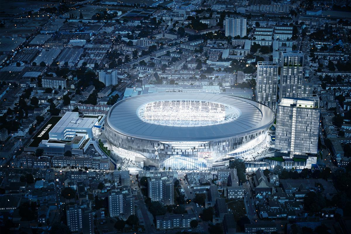 The new stadium will make its Premier League debut in August and its NFL debut in October / Populous