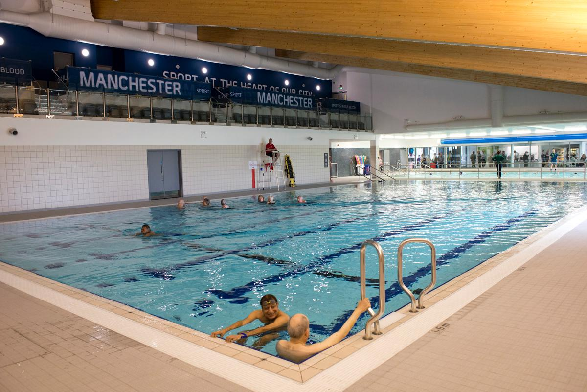 Hough end leisure centre in manchester is officially open for for Swimming pool in fort stockton tx