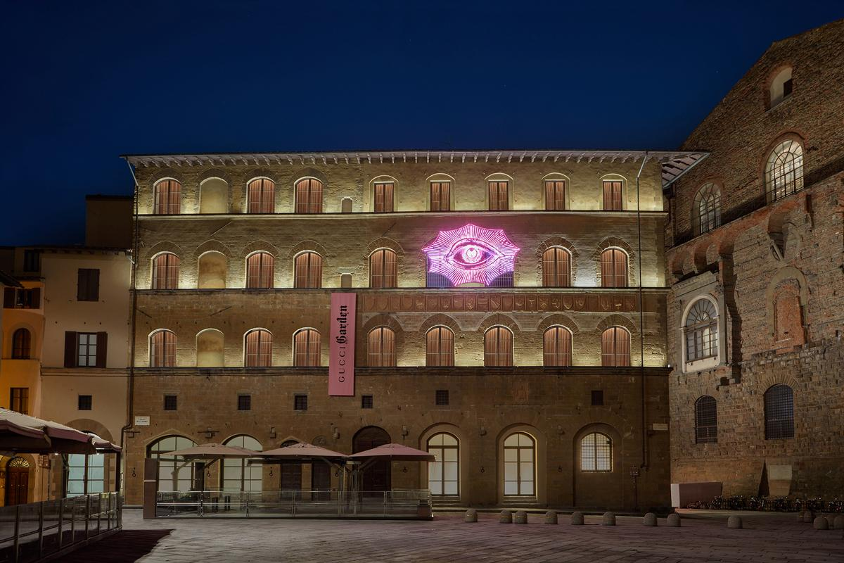 The attraction spans three floors within the Palazzo della Mercanzia, which previously housed a smaller Gucci museum / Gucci