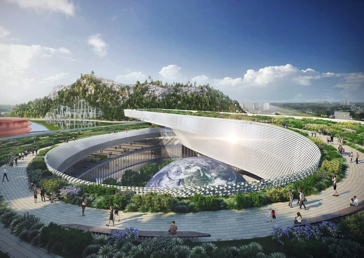 The museum will become the centrepiece of a new cultural district in Shishan Park