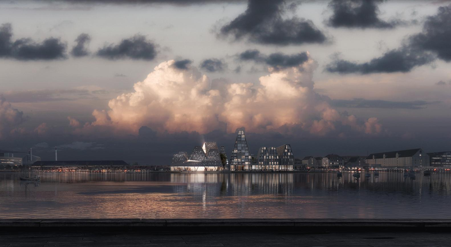 The project will be built on Christiansholm Island, one of the last undeveloped areas along the city's waterfront / Kengo Kuma and Luxigon
