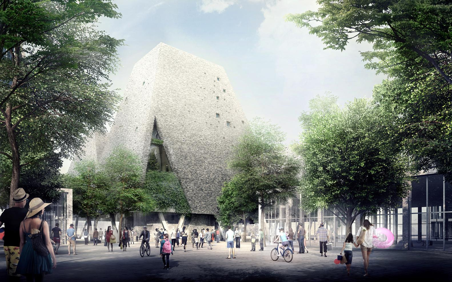 Associate architects Cornelius + Vöge Aps, engineering firm Søren Jensen and consulting architect Niels Sigsgaard are collaborating on the project / Kengo Kuma and Luxigon