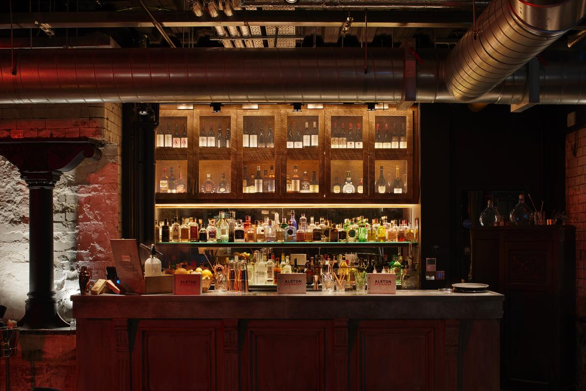 Over 60 types of gin are sold at the secret bar / Jestico + Whiles
