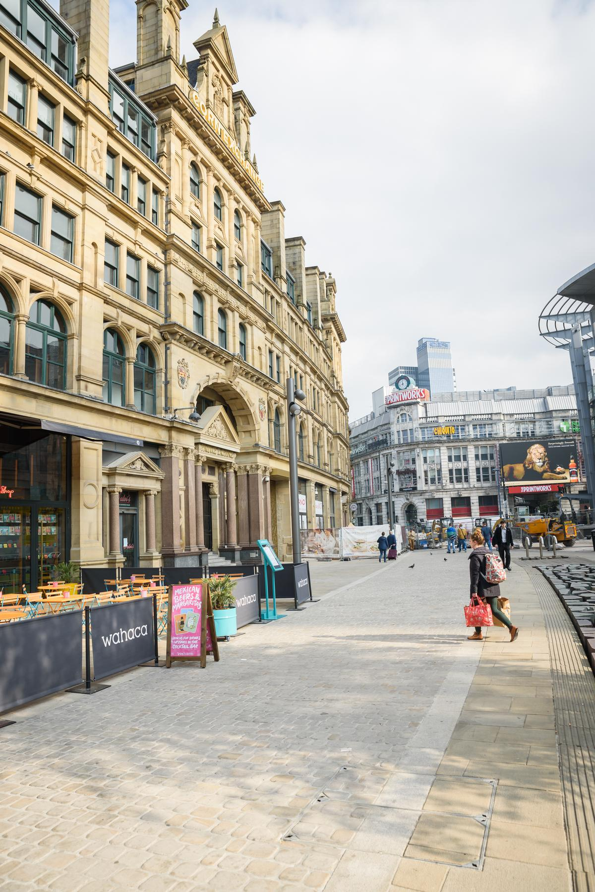 The restaurant is situated inside and below Manchester's Victorian-era Corn Exchange / Shutterstock