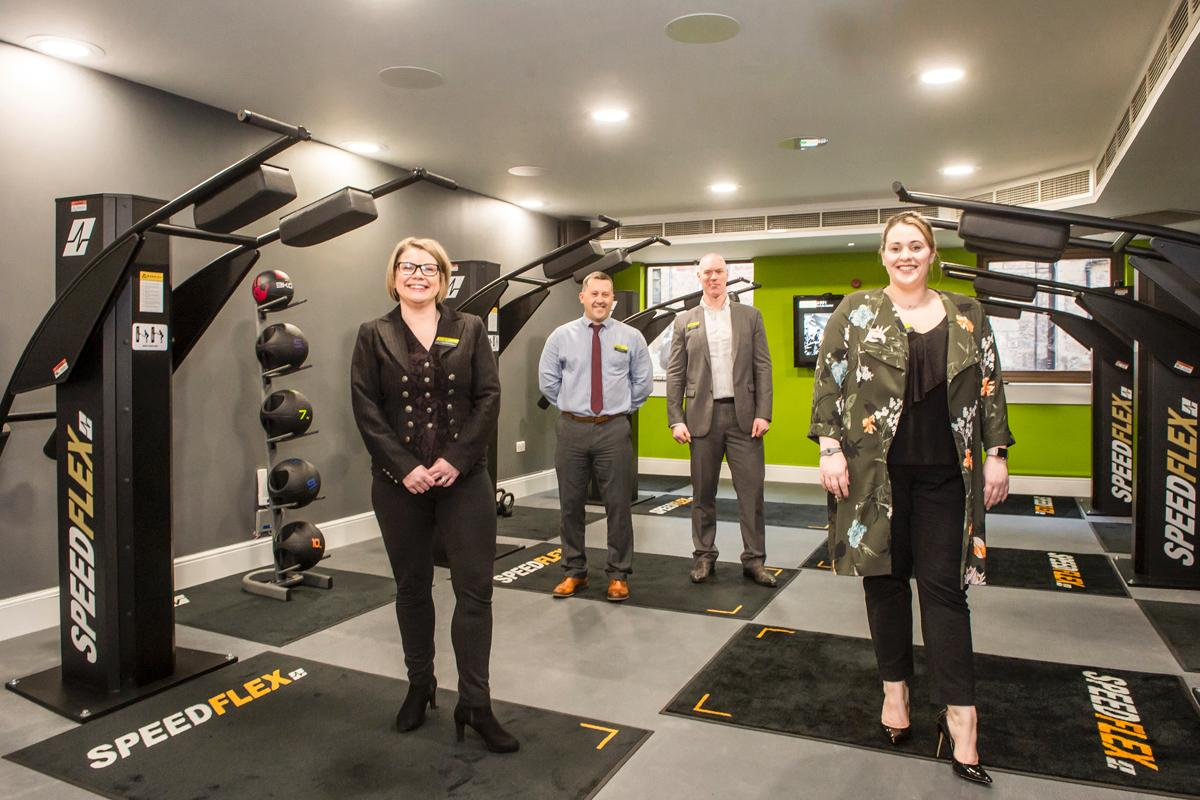 L-R: Fiona McNorton, Matthew Emery and Scott Niven, all of the Bannatyne Group, and Rachel Wrightson, general manager, Bannatyne Edinburgh (Queen Street) / Bannatyne Group