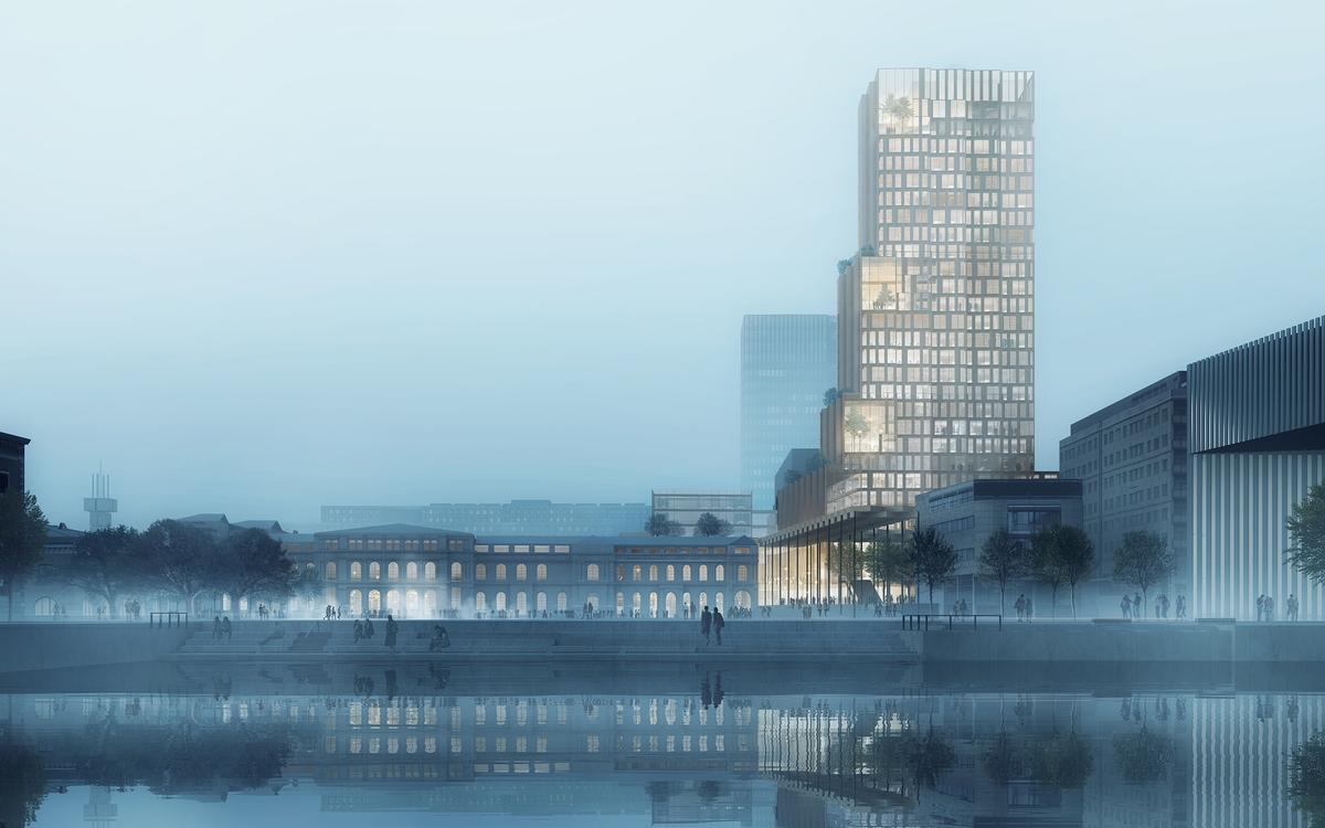 The project, called Fjordporten, will be the largest mixed-use complex in Norway / RRA and C.F Møller