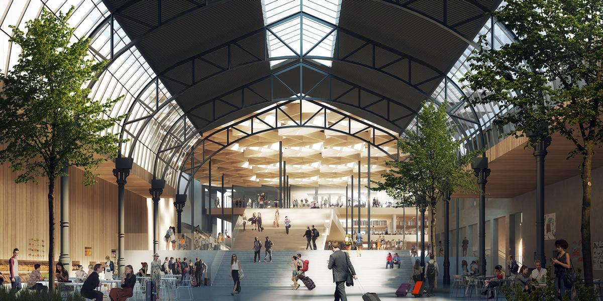 The base of the 50,000sq m (538,000st ft) development will house publicly-accessible cultural facilities and will link to a new plaza, / RRA and C.F Møller