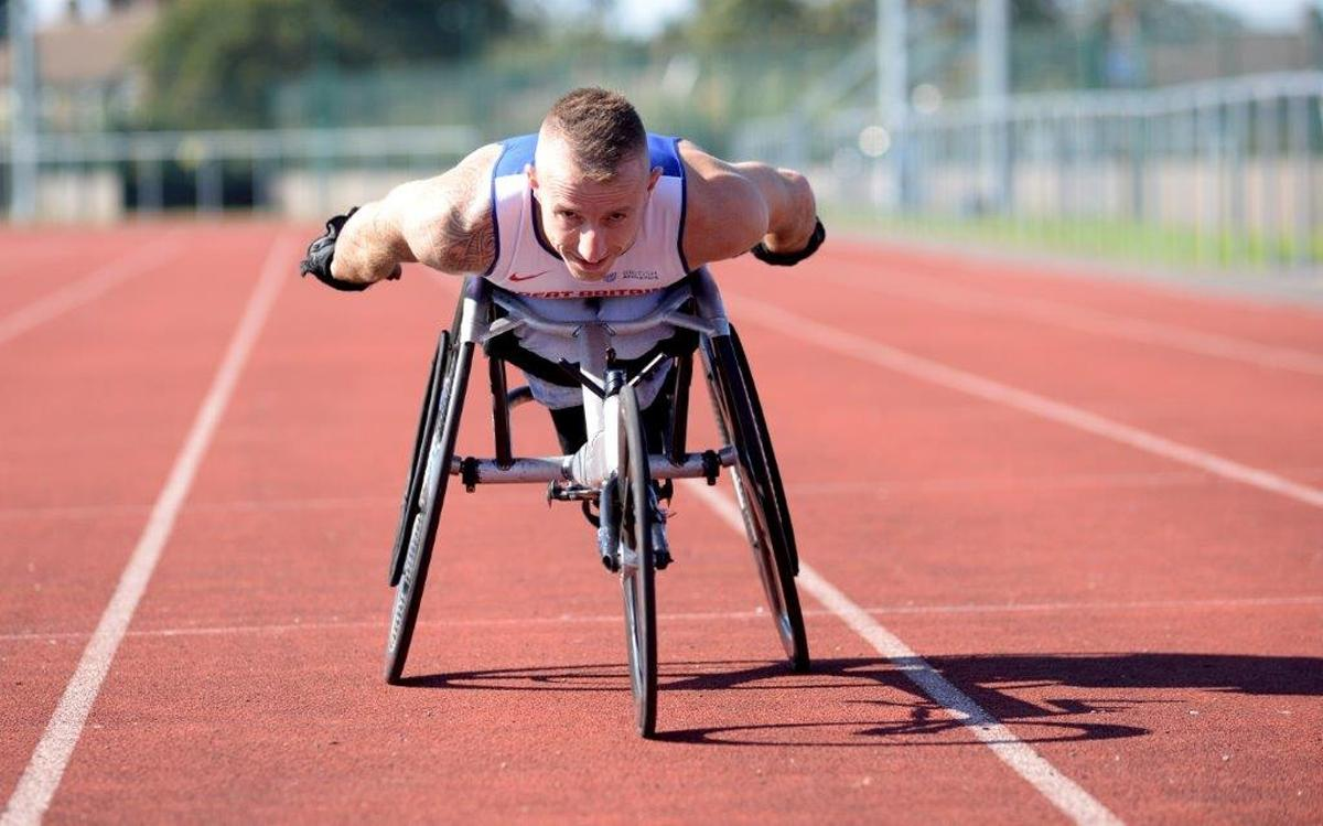 Campaign ambassador Richard Chiassaro is a British Paralympic athlete in sprint and middle distance races / Active Essex