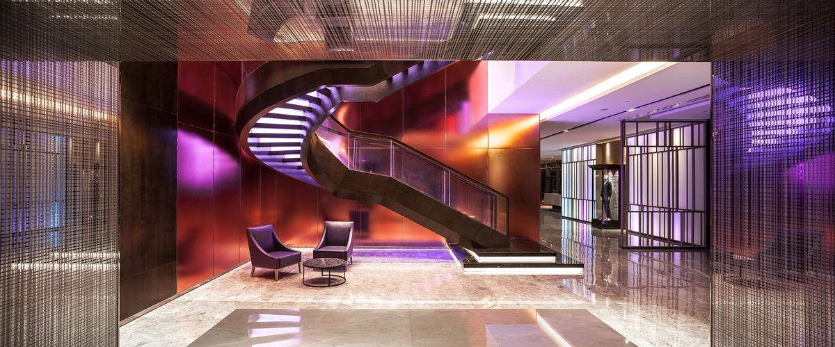 Vibrant and dramatically-lit interiors feature throughout / Nirut Benjabanpot