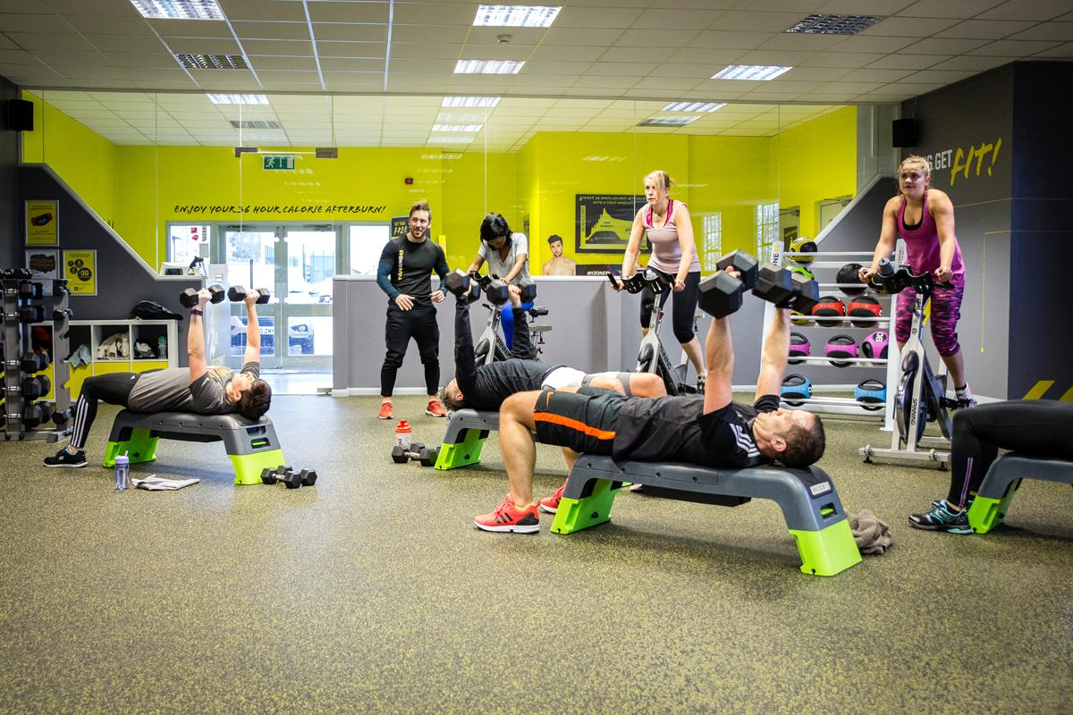 The 45-minute bootcamp style workouts are focused around heart rate technology training / YourZone45