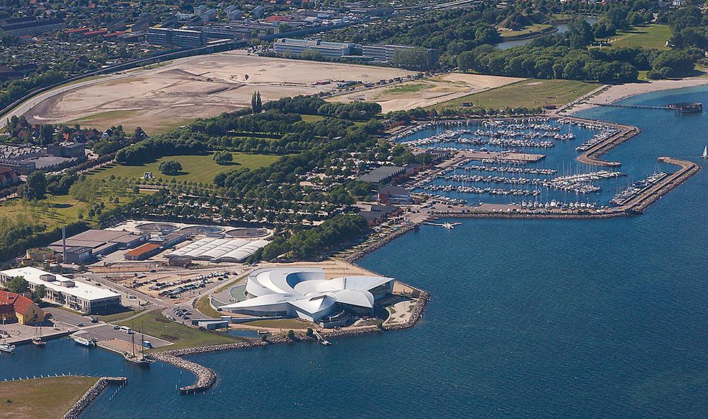 The aquarium is on the island of Amager, around 10km from central Copenhagen