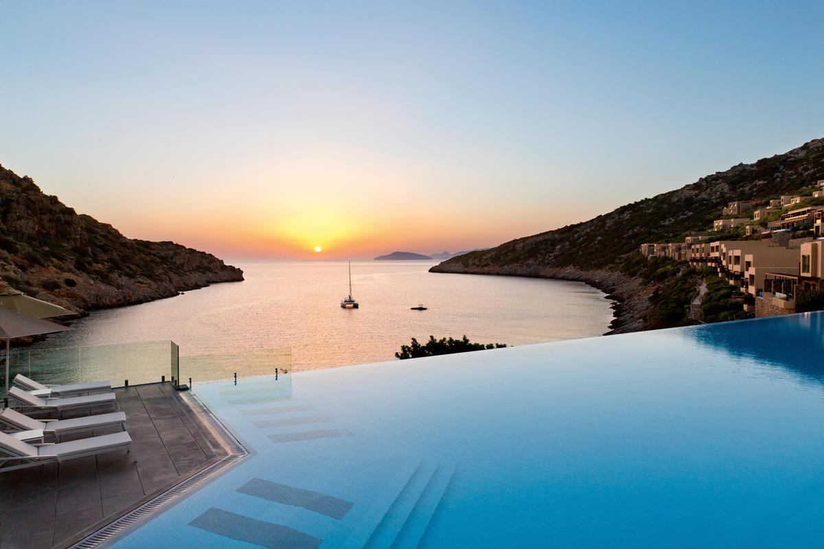 The Resort includes 305 bedrooms and 114 private pools, and the 2,500sq m (26,909sq ft) GOCO Spa Daios Cove will open in April