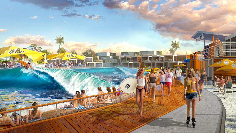 A rendering illustrates Australia's ACTVENTURE resort, Queensland / ACTVENTURE