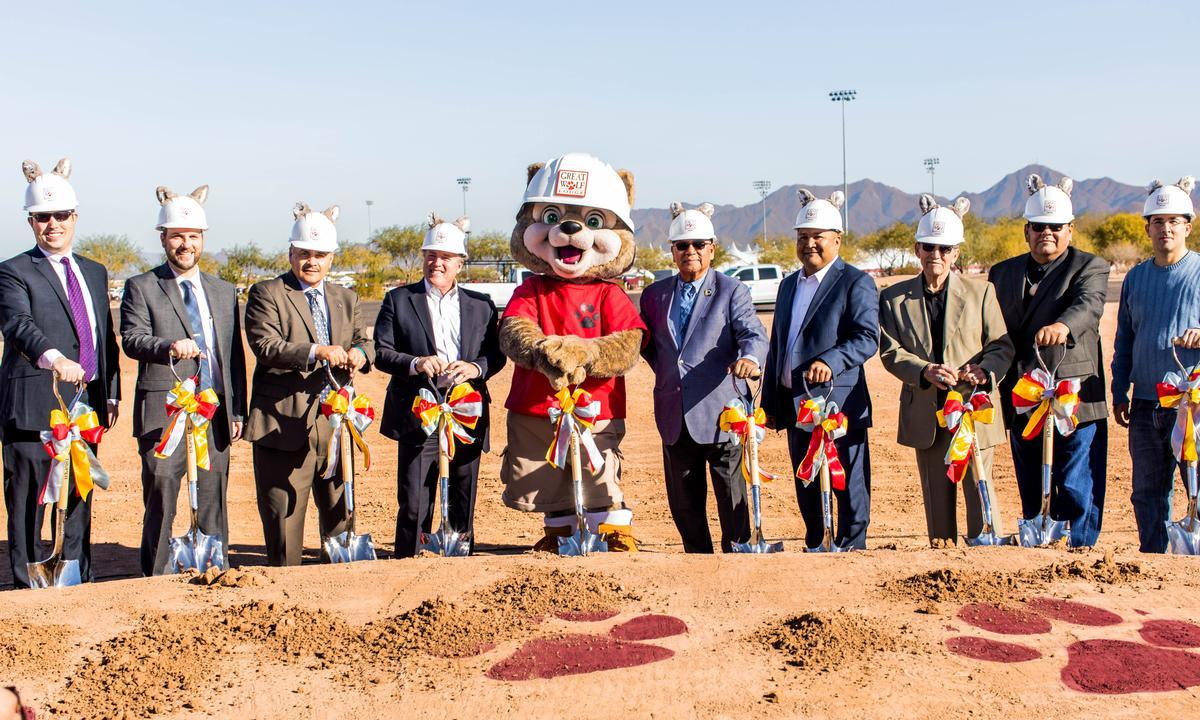 The groundbreaking ceremony for Great Wolf Lodge Arizona