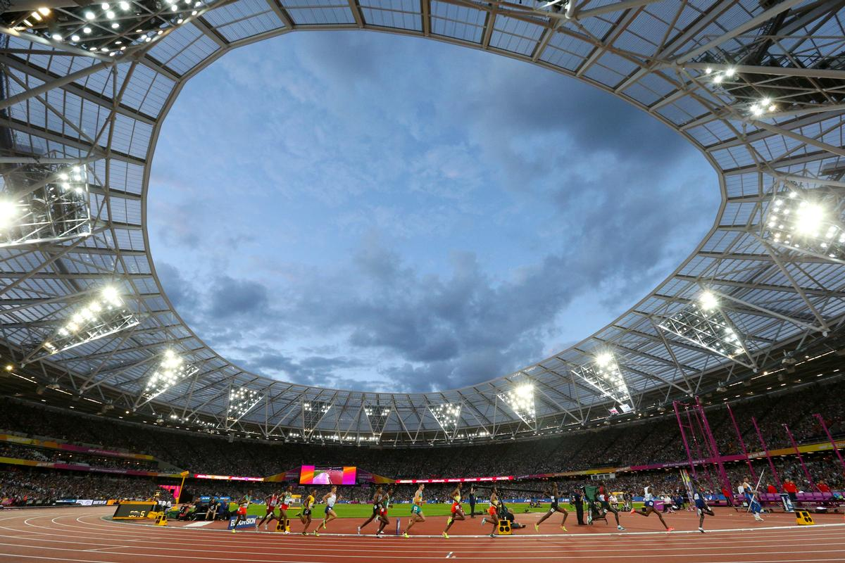 The World Cup will take place under the floodlights at the London Stadium / Jonathan Brady/PA Wire/PA Images