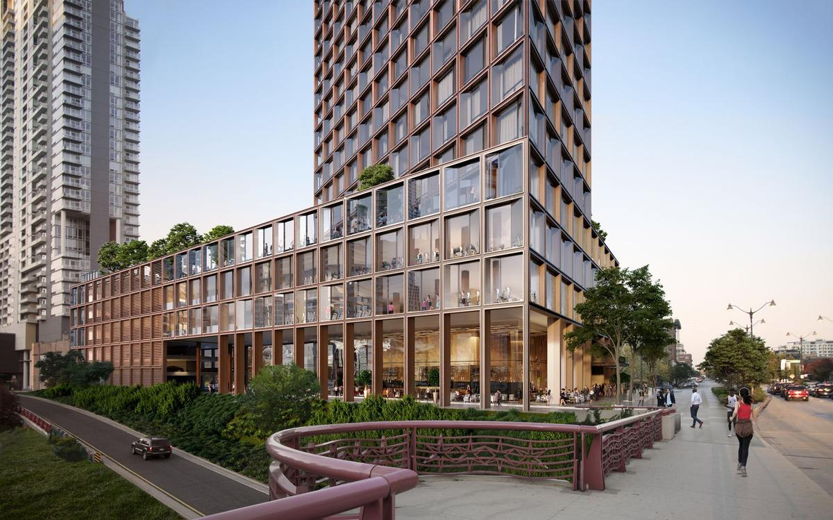 A structural grid of steel, aluminium and glass will repeat across all elevations to unify the building's design / Related Midwest