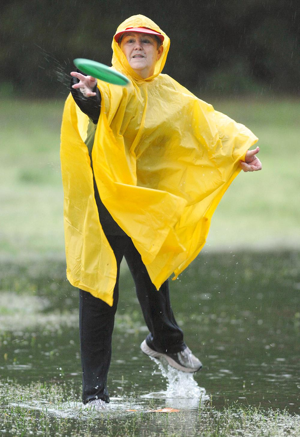 Disc golf can be played in pretty much any terrain and in any weather / nick tomeck / press association