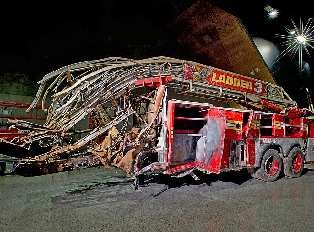 The Ladder 3 fire engine, a poignant artefact / PHOTO: © JIN LEE