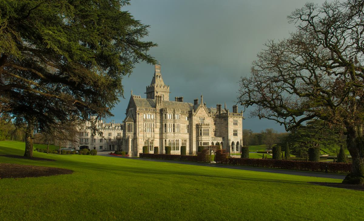 Adare Manor was originally built in the mid-19th Century and design flourishes include gargoyles, symbols of heraldry and elaborate stone and wood carvings / Paul Lehane
