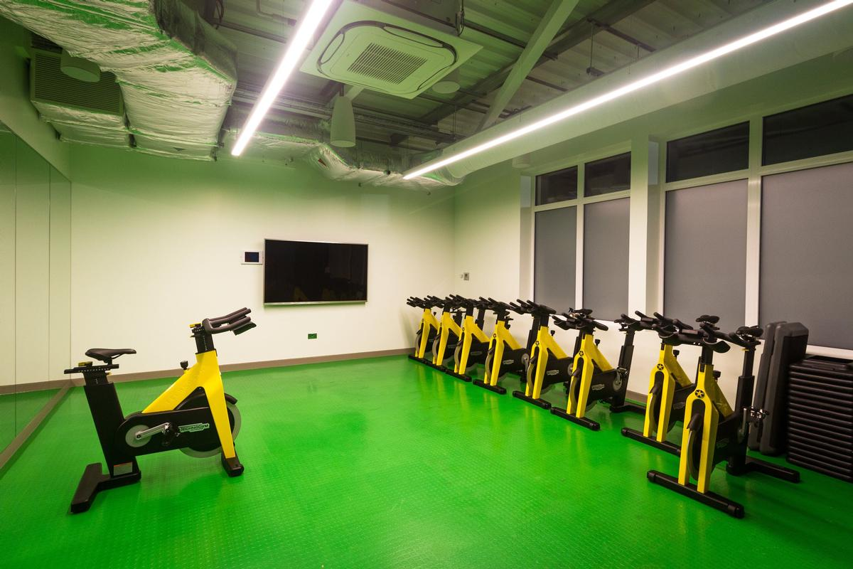 A gym area with cardio and resistance stations has been added, along with a functional fitness space and a group exercise studio, with instructor led classes along with virtual training / Kohler Waters Spa