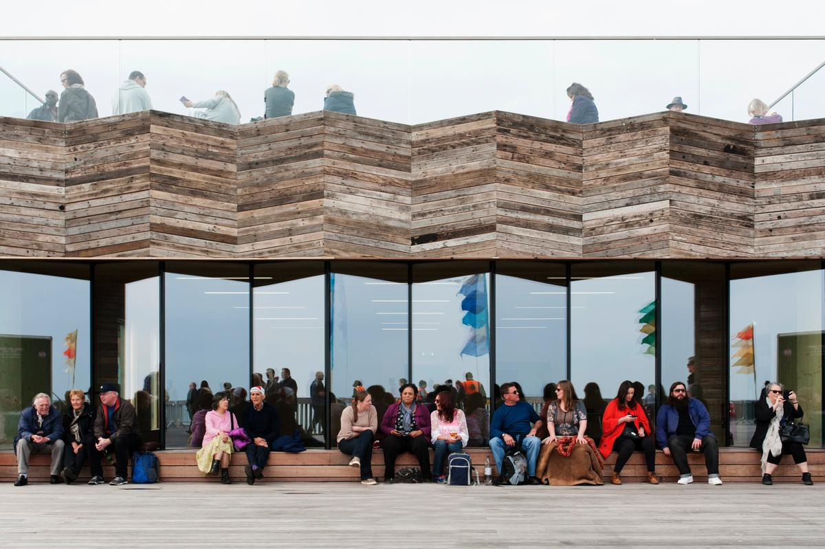 The pier reopened in April 2016 and was named the winner of British architecture's most prestigious accolade last year / James Robertshaw