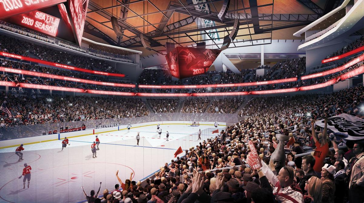 Populous Reveal Renderings For Revamp Of Seattle Arena In Space  # Muebles M Arenas Sesena