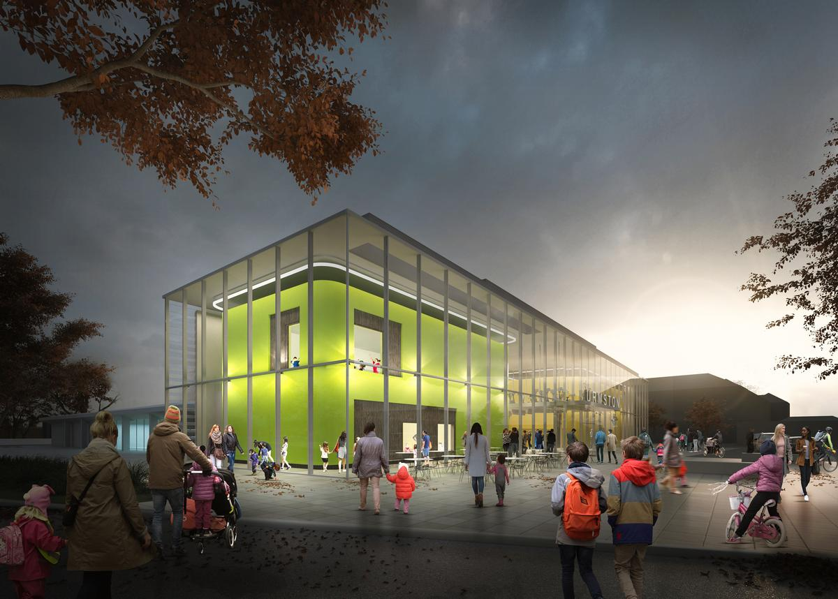 Once complete, facilities will include a new, glass-fronted gym with functional training area on the first floor / Trafford Council
