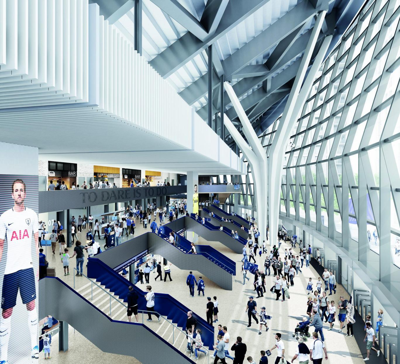 Sports and arena architects Populous, who have created several of the UK's best-known football grounds, are behind the designs / Tottenham Hotspur