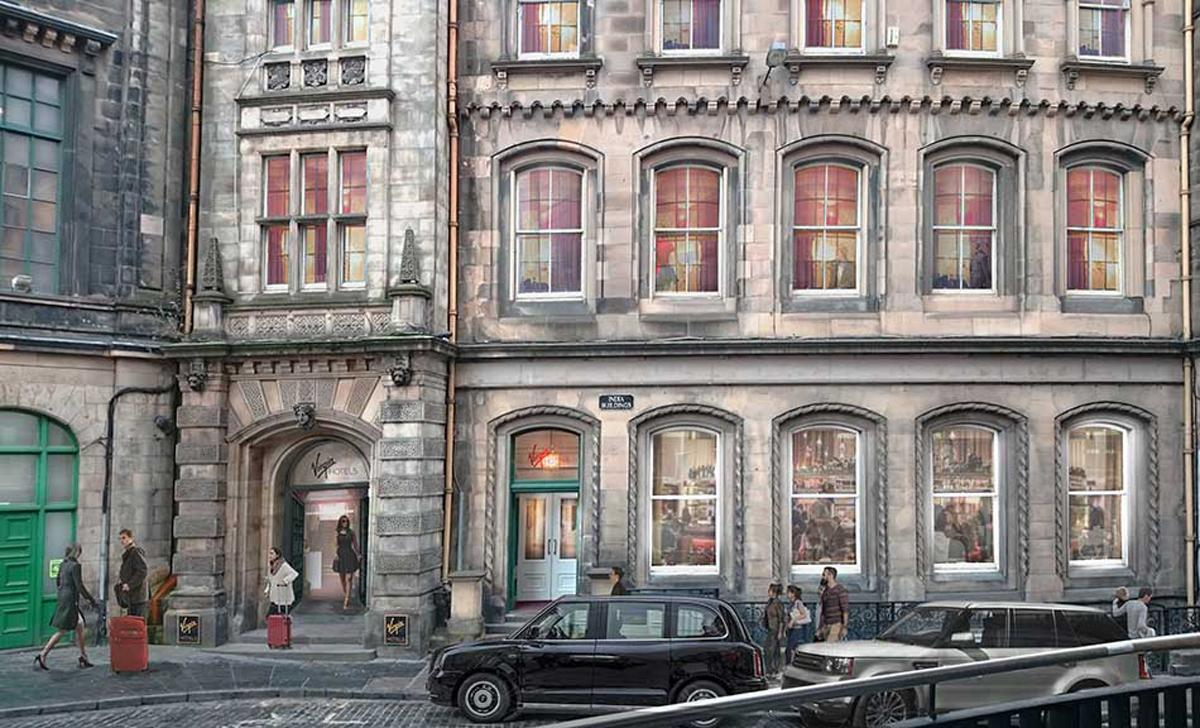 The 225-bedroom Virgin Hotel Edinburgh will be located in the landmark India Buildings / Virgin Hotels