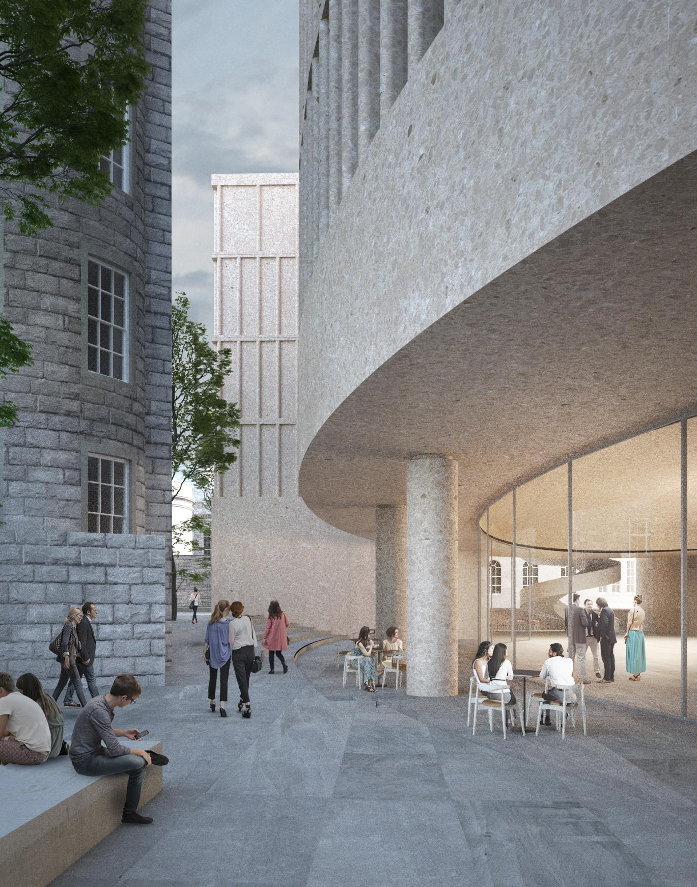 Adjaye Associates, Richard Murphy, Allies & Morrison, Barozzi Veiga and KPMB were all in contention for the commission, but the vision outlined by Chipperfield's practice was enough to sway the developers / The IMPACT Centre