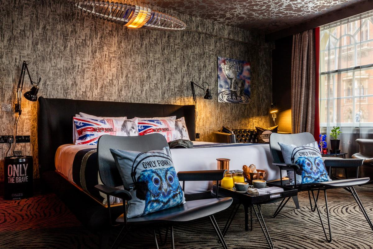 Hip Pop Britannia has been launched this week in three 'rockstar rooms' at The Megaro hotel in King's Cross, London / Blue Sky Hospitality