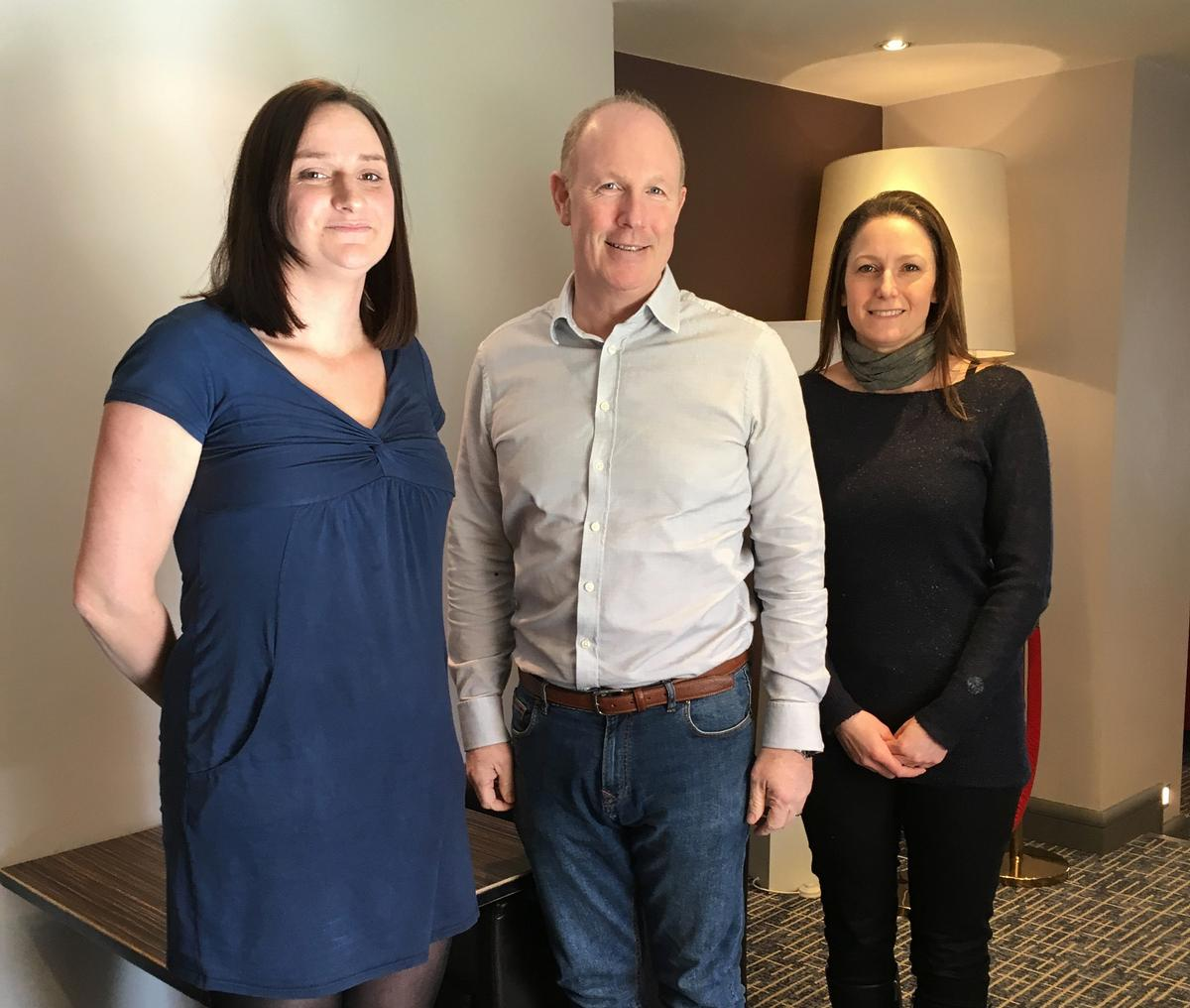 Sarah Hitchcock (left), Andy Loughray (middle) and Janette Rose (right) will form part of Dyaco UK's top team / Dyaco UK