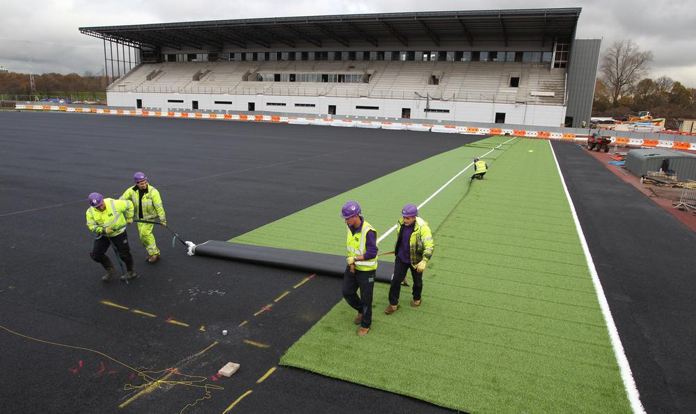 The artificial pitch at Saracens' new home Allianz Park was supplied by SIS
