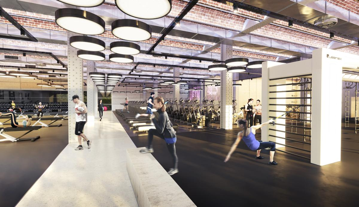 ... And Weights And Strength Training Areas, In Addition To The Clubu0027s  Studios, Throughout The Open Vaulted Steel And Brick Structure / WG+P  Architects