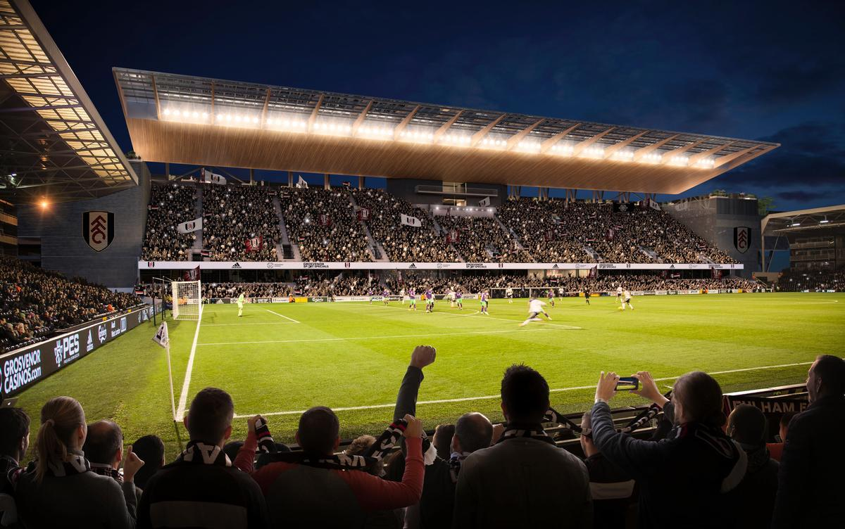 The Riverside Stand itself will be rebuilt with more seats, increasing the stadium's total capacity by 4,300 / Populous