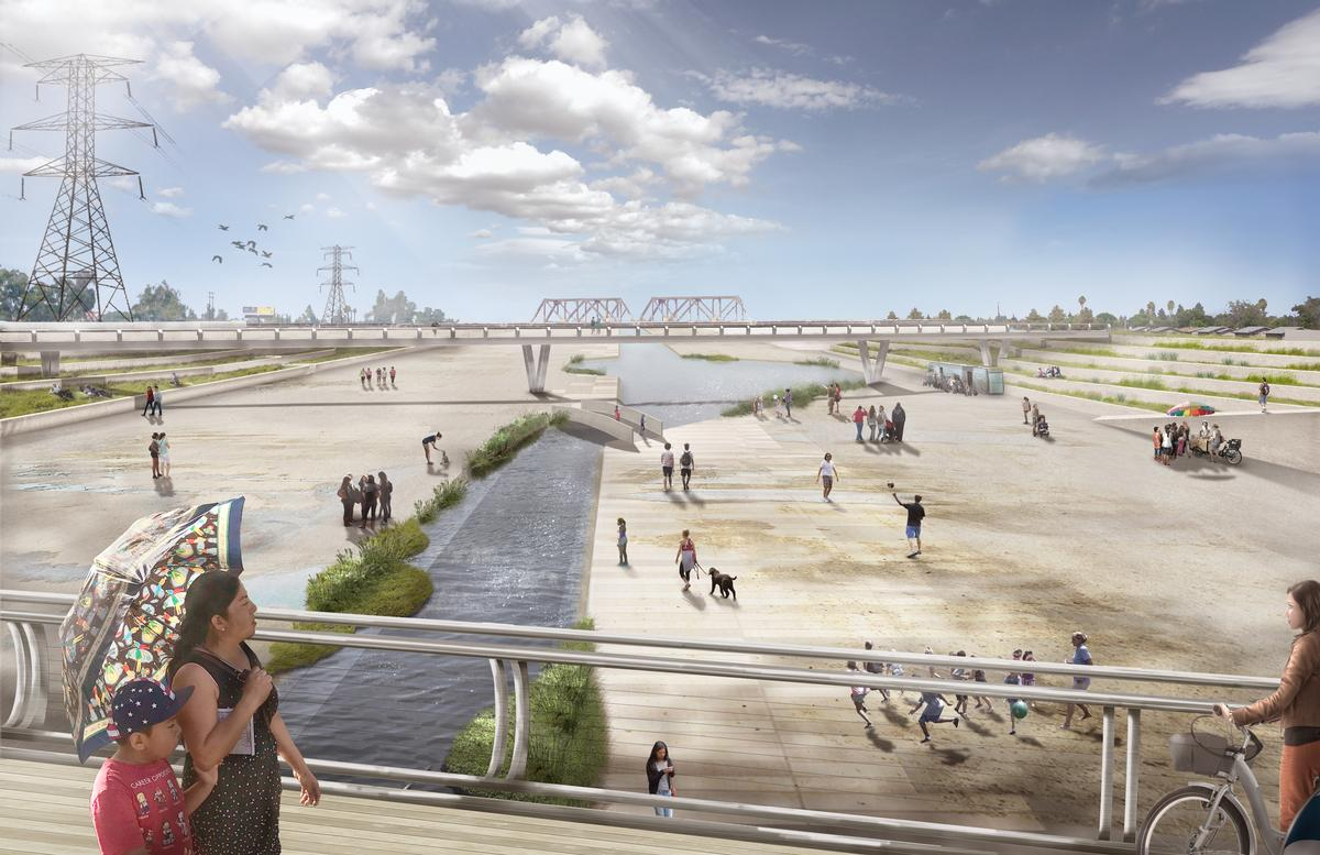 Perkins+Will have worked with the County of Los Angeles, Tetra Tech Engineers and the LA River Working Group to create the Lower Los Angeles River Revitalization Plan / Perkins+Will