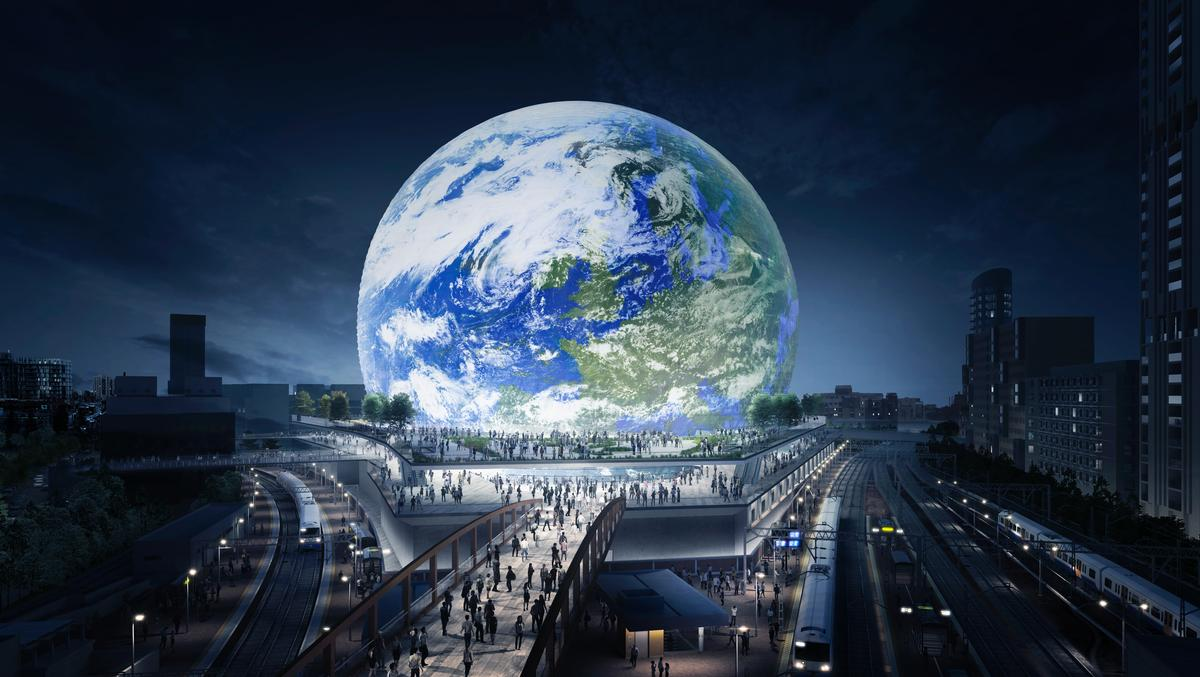 Designed by Populous, the MSG Sphere London has been conceived as the Madison Square Garden Company's first international arena / MSG