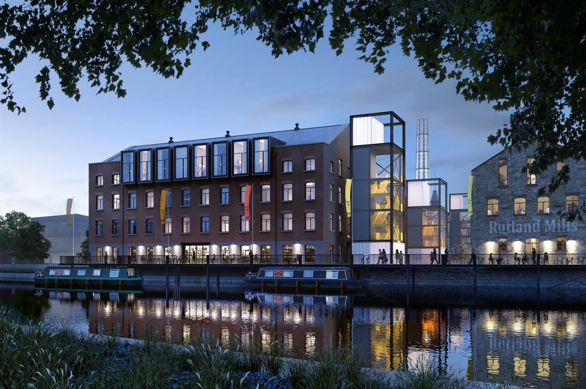 The mixed-use district will be sited next to the Hepworth Wakefield Gallery on the River Calder, building on the cultural programming offered by the popular attraction / HawkinsBrown