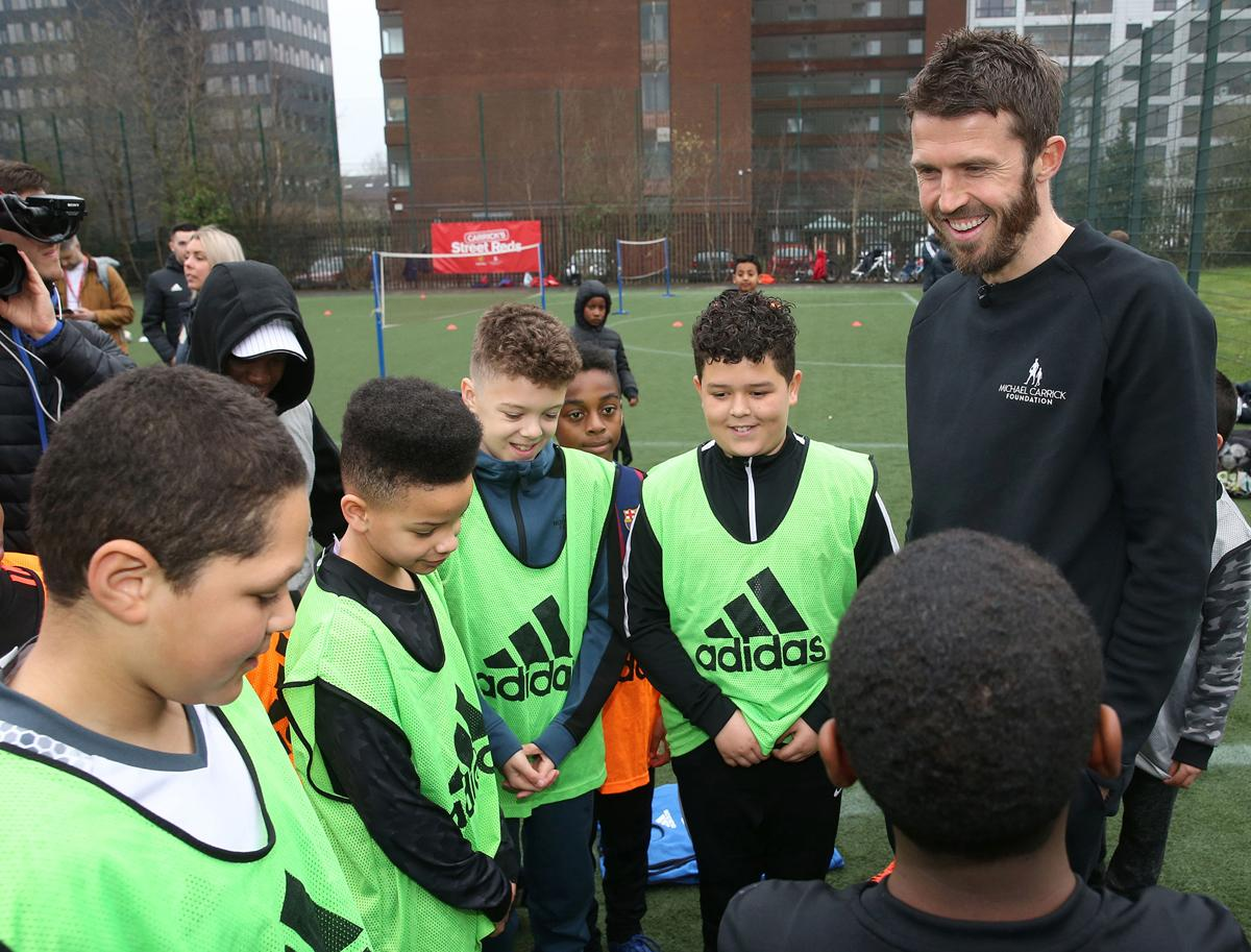 Carrick has offered to fund the project for the next three years through a charity he has set up / Manchester United Foundation