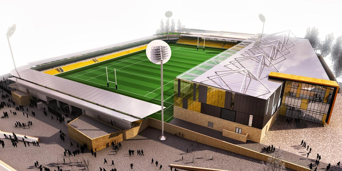 As well as a home for the Cornish Pirates rugby club, the stadium will also host Truro City Football Club / Stadium for Cornwall