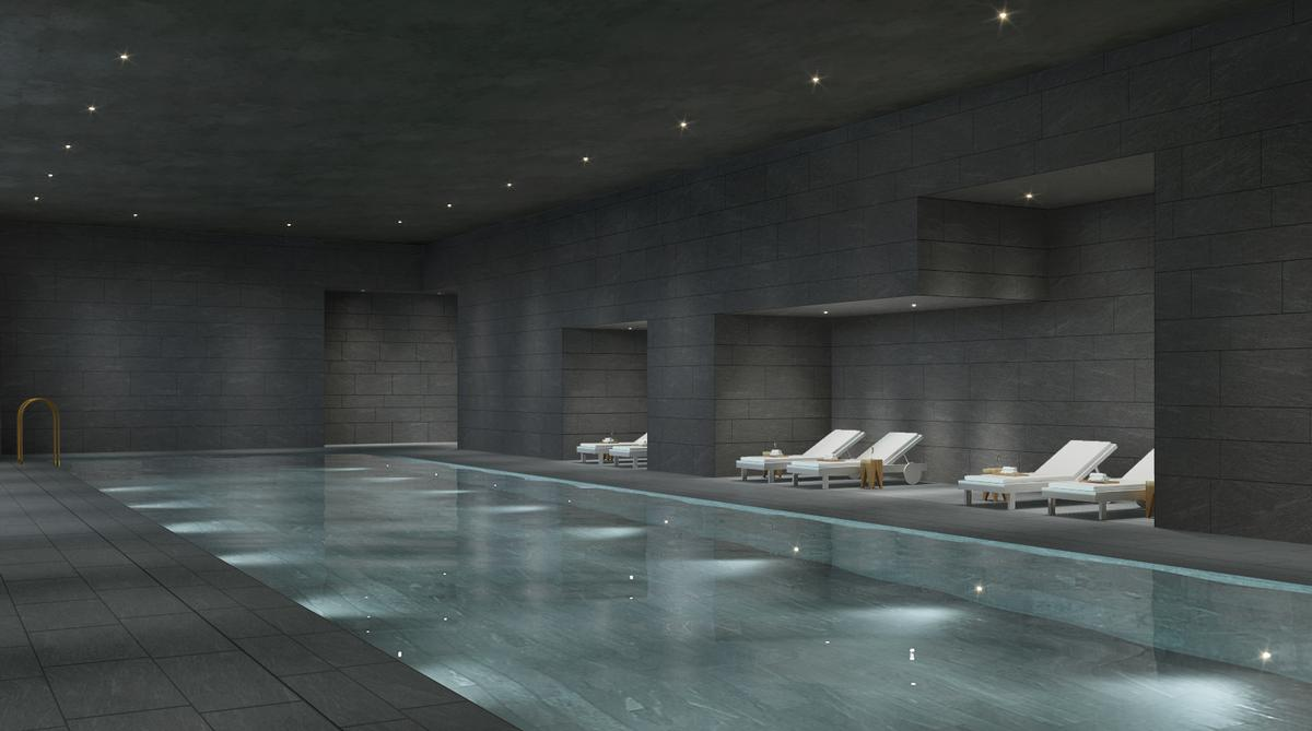 The spa includes a 25m indoor heated pool, sauna and steam rooms