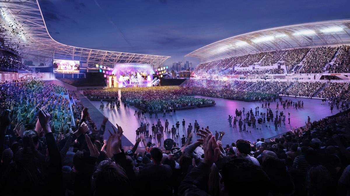 Concerts, festivals, and other community events will all be hosted at the new stadium / LAFC