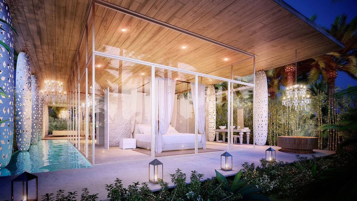 Designer Marcel Wanders created the 'Eden' prefabricated villa for Revolution Precrafted / Revolution Precrafted