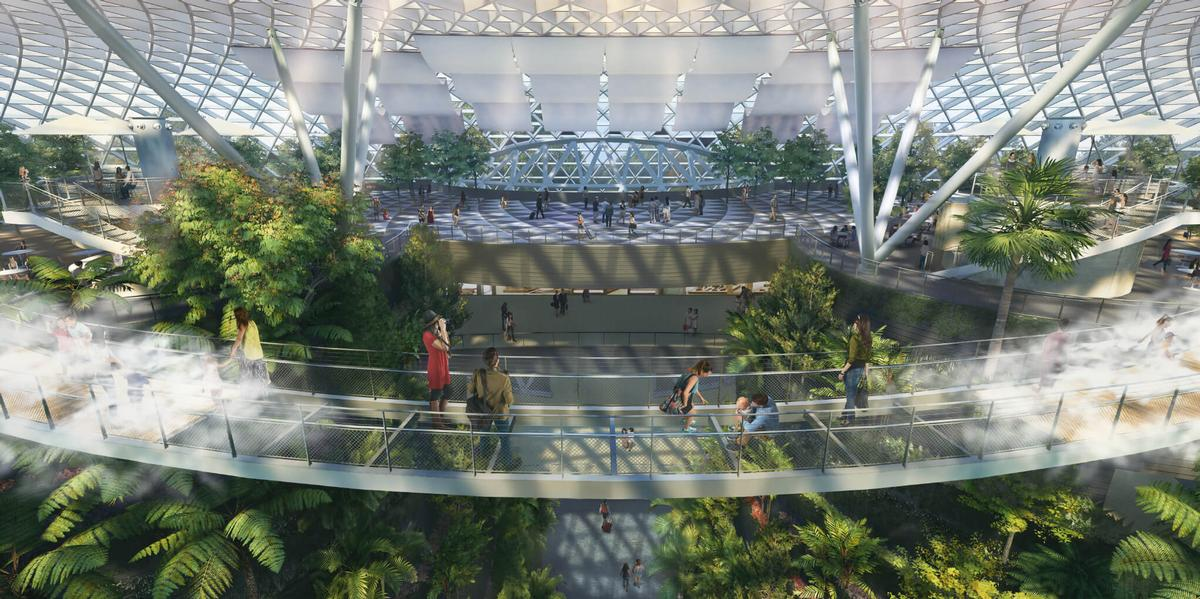 A Canopy Park will feature walkways 25m above the ground / Changi Airport